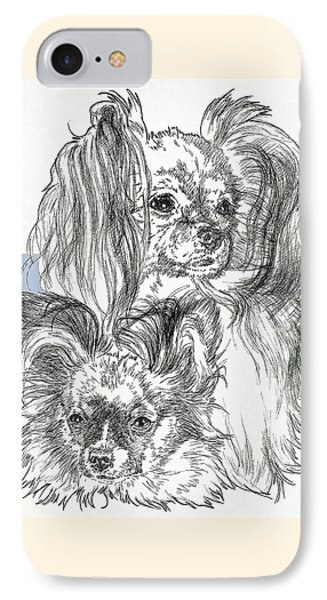 Papillon Father And Son Phone Case by Barbara Keith
