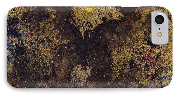 IPhone Case featuring the painting Papillon Noir - Dark Butterfly - Mariposa Negra by Marc Philippe Joly
