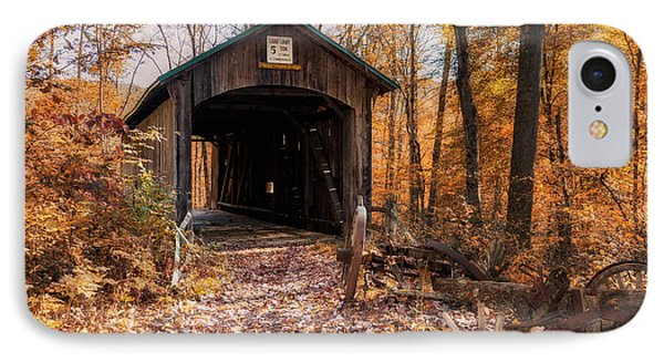 Pappy Hayes Covered Bridge IPhone Case by Tom Mc Nemar