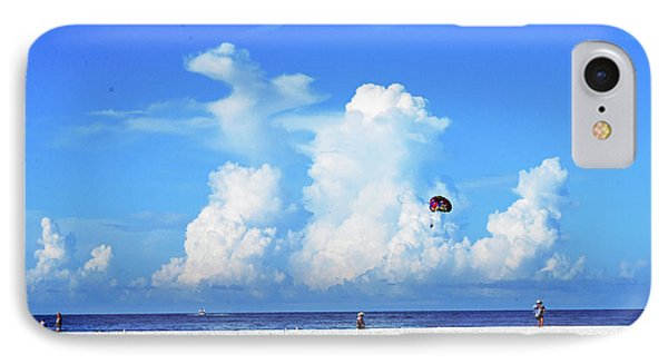 IPhone Case featuring the photograph Para Sailing On Siesta Key by Gary Wonning