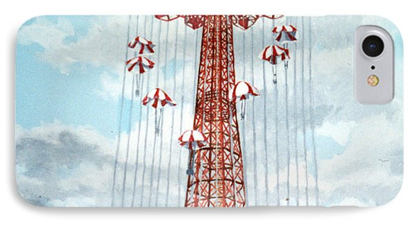 Parachute Jump In Coney Island New York IPhone Case by Bonnie Siracusa