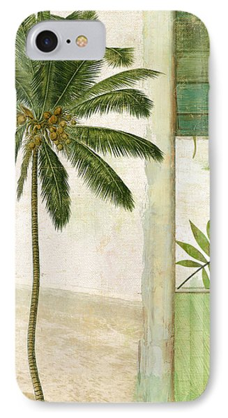 Paradise II Palm Tree IPhone Case by Mindy Sommers
