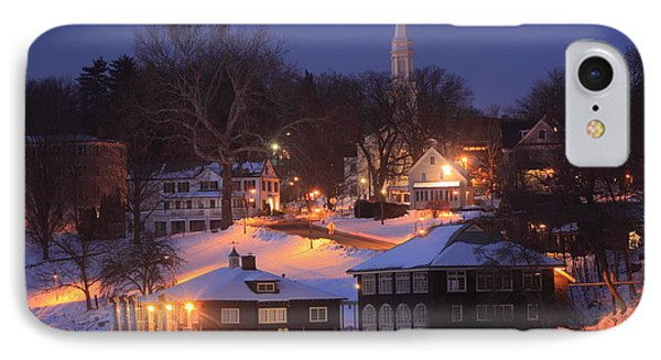 Paradise Pond Smith College Winter Evening IPhone Case
