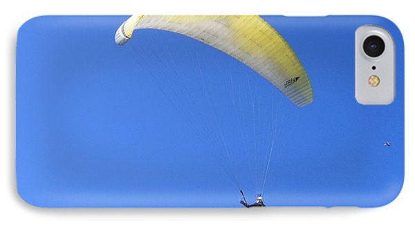 Paraglider And Seagull IPhone Case by Will Borden
