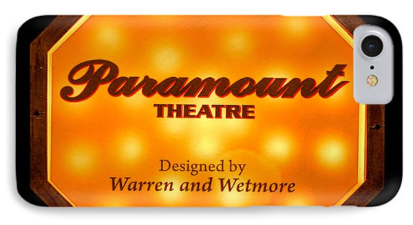 Paramount Theater Sign IPhone Case