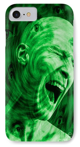 Paranoid Personality Disorder IPhone Case by George Mattei