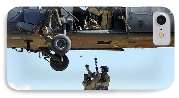 Pararescuemen Are Hoisted Into An Hh-60 IPhone Case