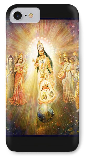 Parashakti Devi - The Great Goddess In Space Phone Case by Ananda Vdovic