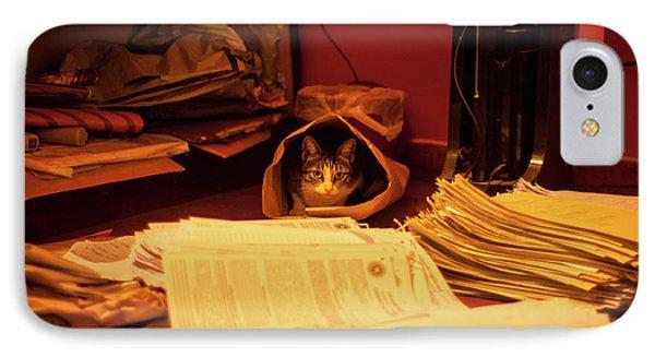 Parcel Cat Phone Case by Venura Herath