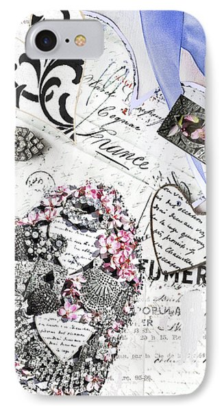 Parfumerie - Paris Love Letters IPhone Case by WALL ART and HOME DECOR