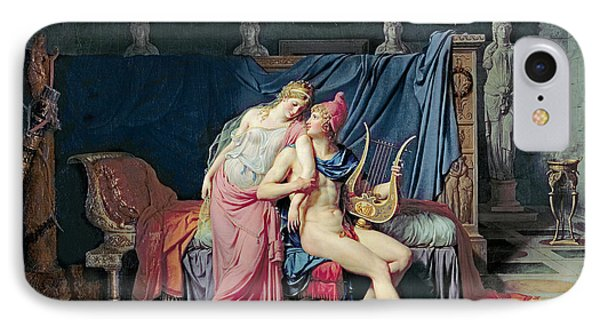 Paris And Helen IPhone Case by Jacques Louis David