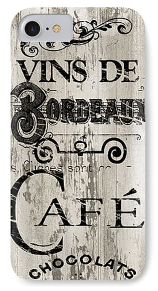 Paris Bistro I IPhone Case by Mindy Sommers