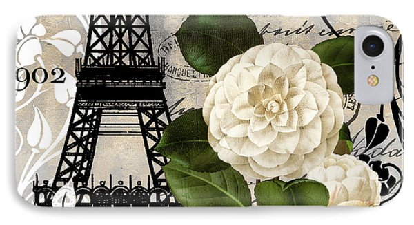 Paris iPhone 7 Case - Paris Blanc I by Mindy Sommers