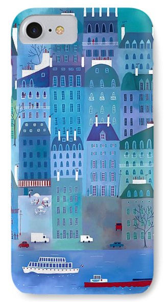 Paris Blues Phone Case by Nic Squirrell