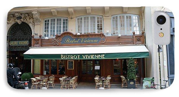 IPhone Case featuring the photograph Paris Cafe Bistro - Galerie Vivienne - Paris Cafes Bistro Restaurant-paris Cafe Galerie Vivienne by Kathy Fornal