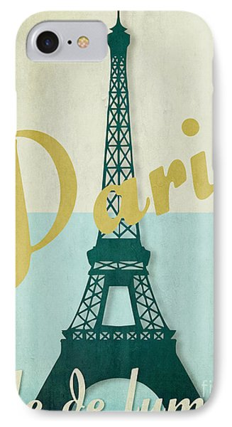 Paris City Of Light IPhone Case by Mindy Sommers