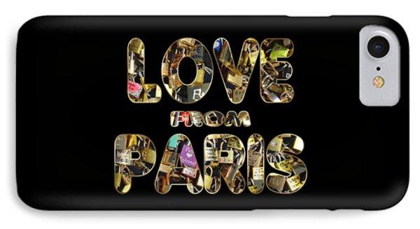 Paris City Of Love And Lovelocks IPhone Case by Georgeta Blanaru
