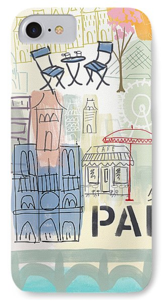 Paris iPhone 7 Case - Paris Cityscape- Art By Linda Woods by Linda Woods