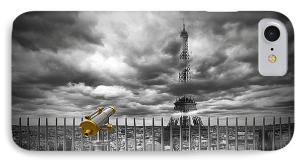 Paris Composing IPhone Case by Melanie Viola