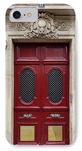 Paris Doors No. 17 - Paris, France IPhone Case by Melanie Alexandra Price