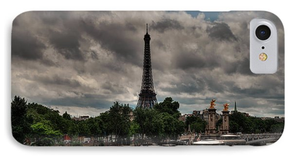 IPhone Case featuring the photograph Paris - Eiffel Tower From The Seine 001 by Lance Vaughn
