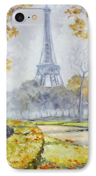 Paris Eiffel Tower From Trocadero Park IPhone Case