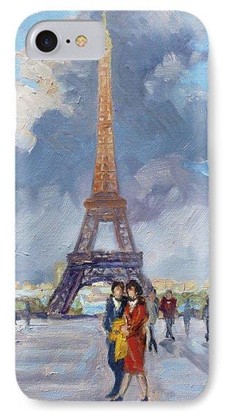 Paris Eiffel Tower IPhone Case by Irek Szelag