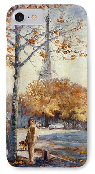 Paris Fall In Trocadero Park IPhone Case by Irek Szelag