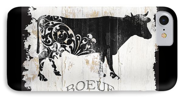Cow iPhone 7 Case - Paris Farm Sign Cow by Mindy Sommers