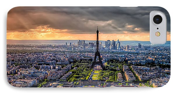 Paris From Above IPhone Case by Tim Stanley