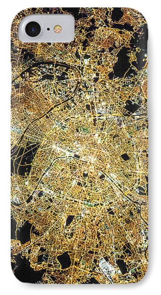 IPhone Case featuring the photograph Paris From Space by Delphimages Photo Creations