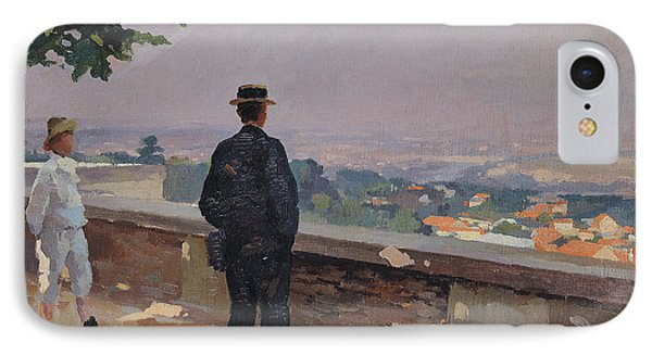 Paris From The Observatory At Meudon Phone Case by Jules Ernest Renoux
