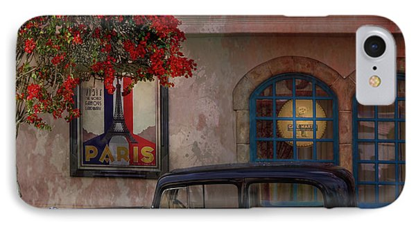 IPhone Case featuring the digital art Paris In Spring by Jeff Burgess