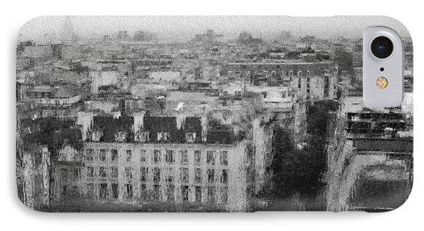 Paris In The Rain  IPhone Case by Dubi Roman