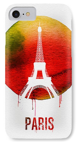 Paris iPhone 7 Case - Paris Landmark Red by Naxart Studio