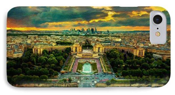 Paris Landscape Phone Case by Vincent Monozlay