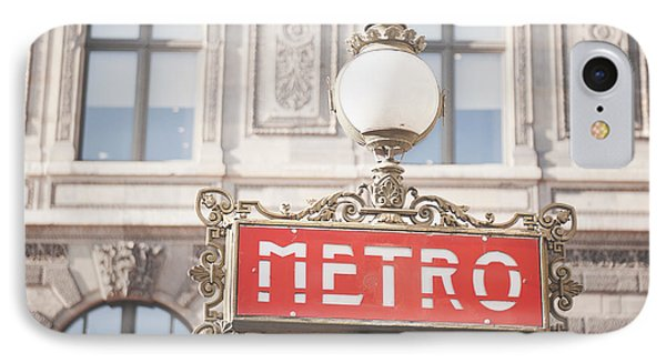 Paris Metro Sign Architecture IPhone Case by Ivy Ho