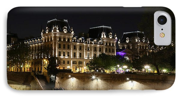 IPhone Case featuring the photograph Paris Police Headquarters by Andrew Fare