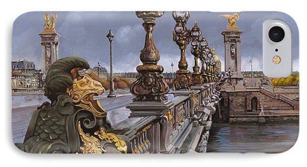 Paris-pont Alexandre IIi Phone Case by Guido Borelli