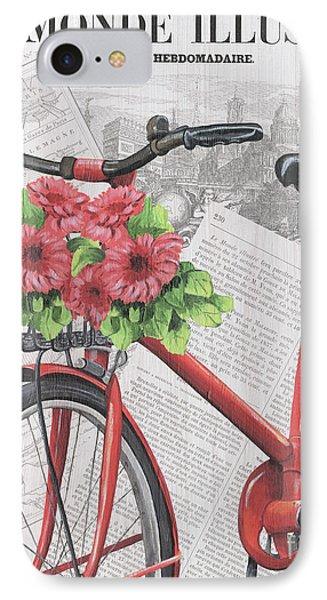 Paris Ride 2 IPhone Case by Debbie DeWitt