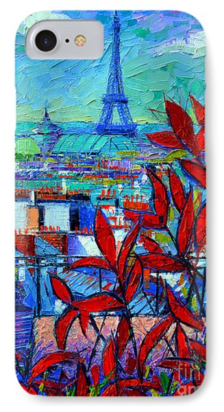 Paris Rooftops - View From Printemps Terrace   IPhone 7 Case