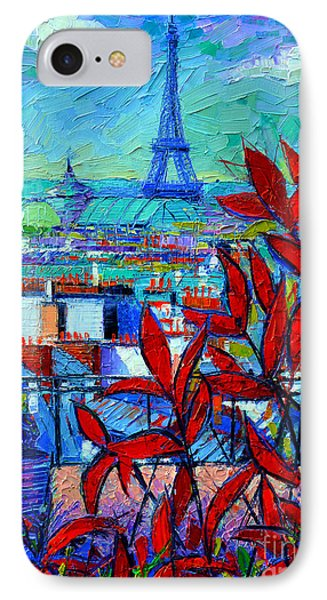Paris Rooftops - View From Printemps Terrace   IPhone Case by Mona Edulesco