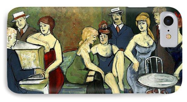 Paris Salon Scene Women In Seductive Cloths Impressionistic Piano Hats Table Chair Mustache  IPhone Case