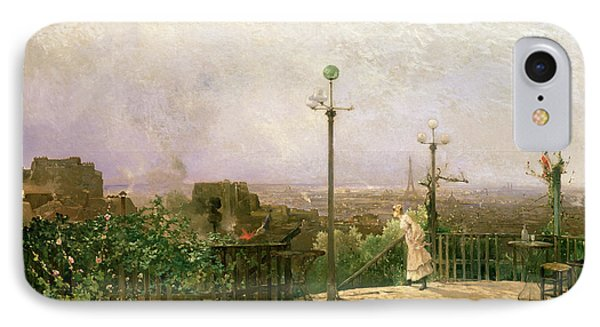 Paris Seen From The Heights Of Montmartre IPhone Case by Jean dAlheim