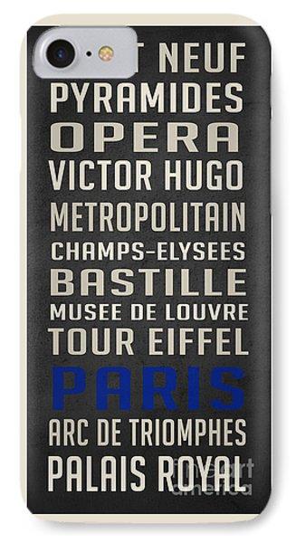 Paris Subway Stations Vintage IPhone Case by Edward Fielding