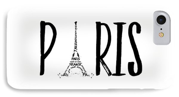 Paris Typography IPhone Case