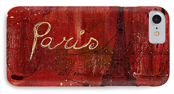 Paris - V01ct1at2cc IPhone Case by Variance Collections