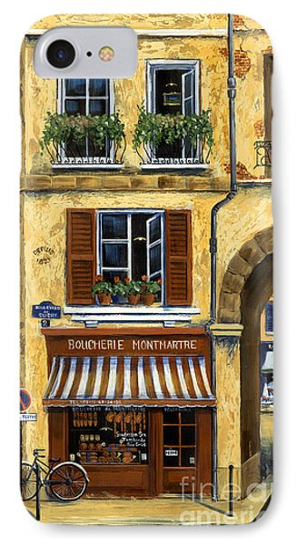 Parisian Bistro And Butcher Shop Phone Case by Marilyn Dunlap