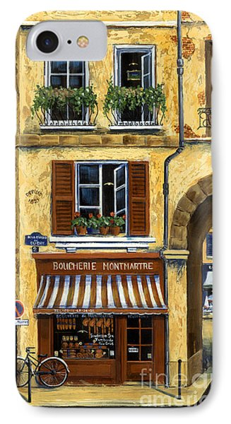Parisian Bistro And Butcher Shop IPhone Case by Marilyn Dunlap