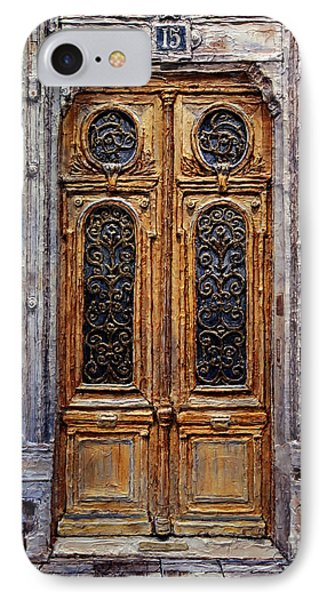 Parisian Door No. 15 IPhone Case by Joey Agbayani